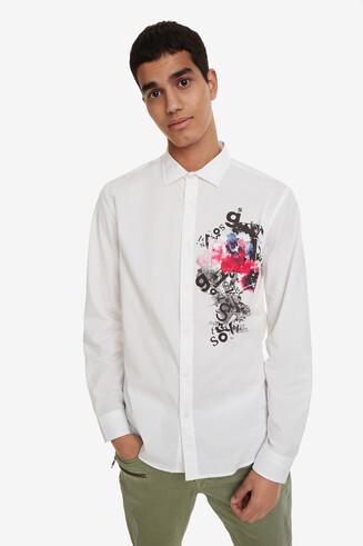 Weiße Hemd im Aquarellstil Eusebio