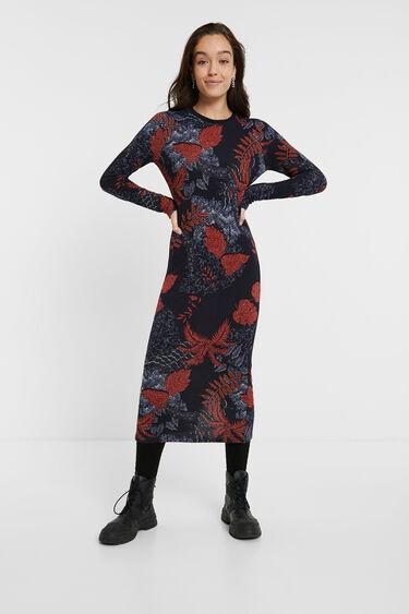 Slim knit floral dress | Desigual