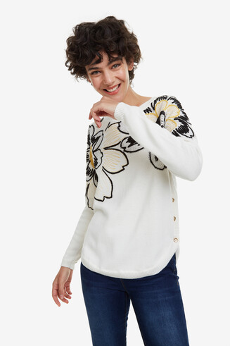 Jumper with Floral Hem Orlando