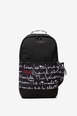 Mochila negra tipo backpack Lojo