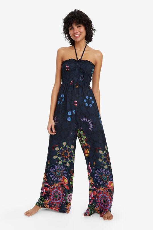 Long Blue Jumpsuit Iye | Desigual