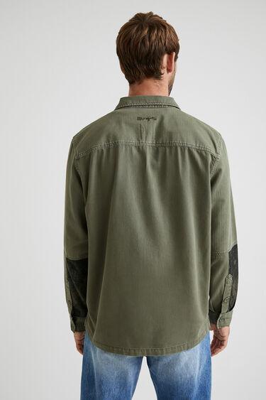 Kurtka koszulowa z patchworkowym nadrukiem | Desigual