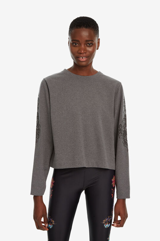 Patch sleeves cotton sweatshirt | Desigual
