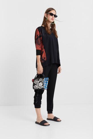 Oversize-Pullover mit Blumenprint