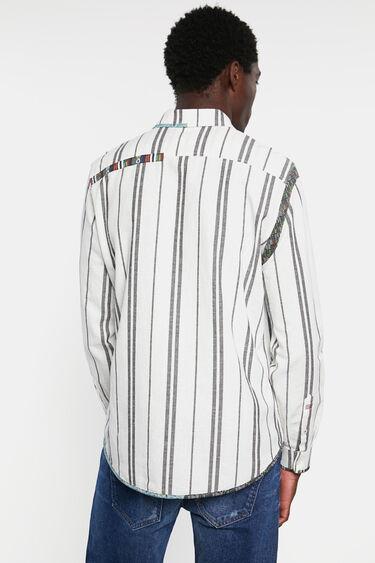 Overhemd met strepen en sierranden | Desigual