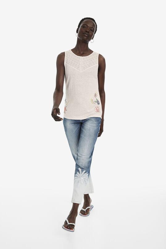 Arty linen T-shirt | Desigual