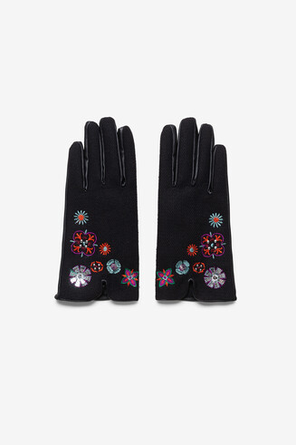 Short embroidered gloves