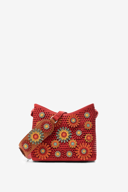 Bag embossed with flowers
