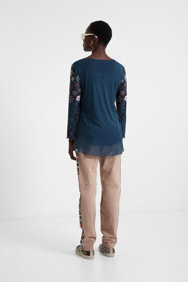 Mehrlagiges Shirt mit Volants | Desigual
