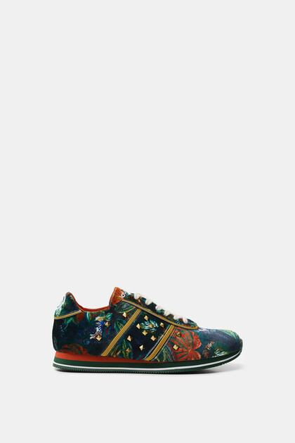 Sneakers zig-zag sole zippers