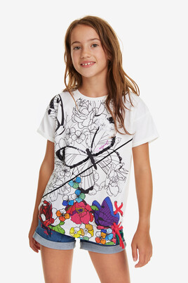 Sequinned Ruchable T-Shirt Bismark