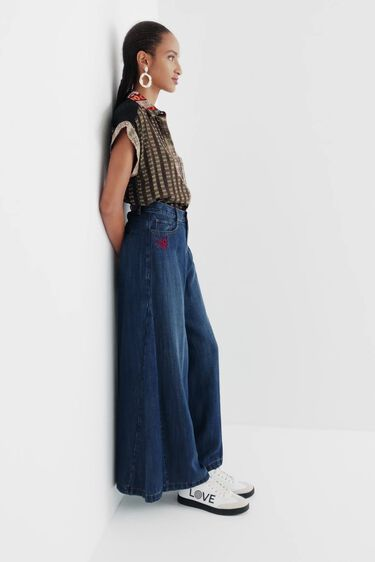Wide leg Tencel™ jeans | Desigual
