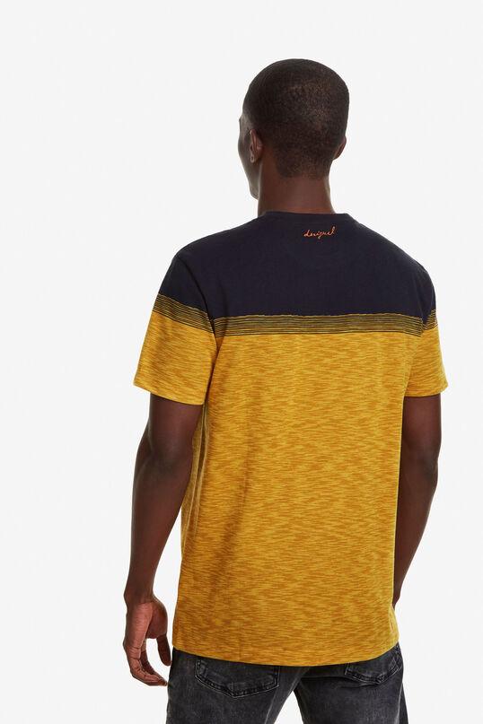 Gelbes Jacquard-T-Shirt mit Stickerei   Desigual