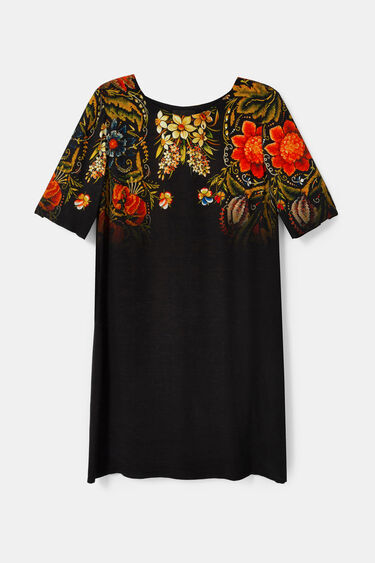 Straight floral dress | Desigual