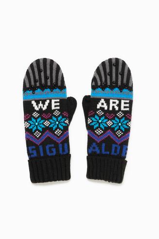 Winter Blue Gloves