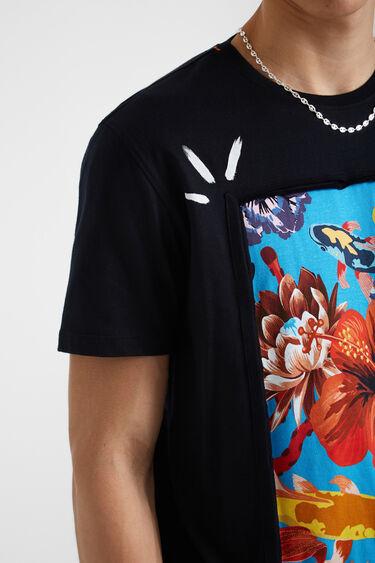 T-shirt empiècement 100% coton | Desigual