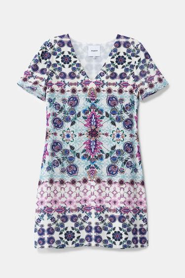 Vestido boho floral tipo camiseta | Desigual