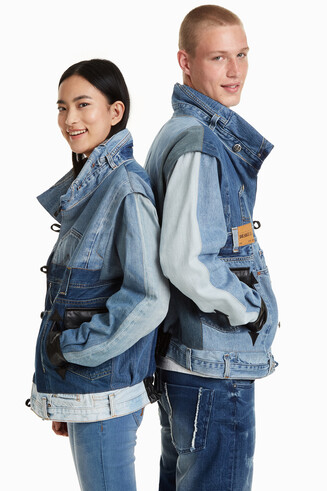 Iconic Jacket aus Jeans-Resten