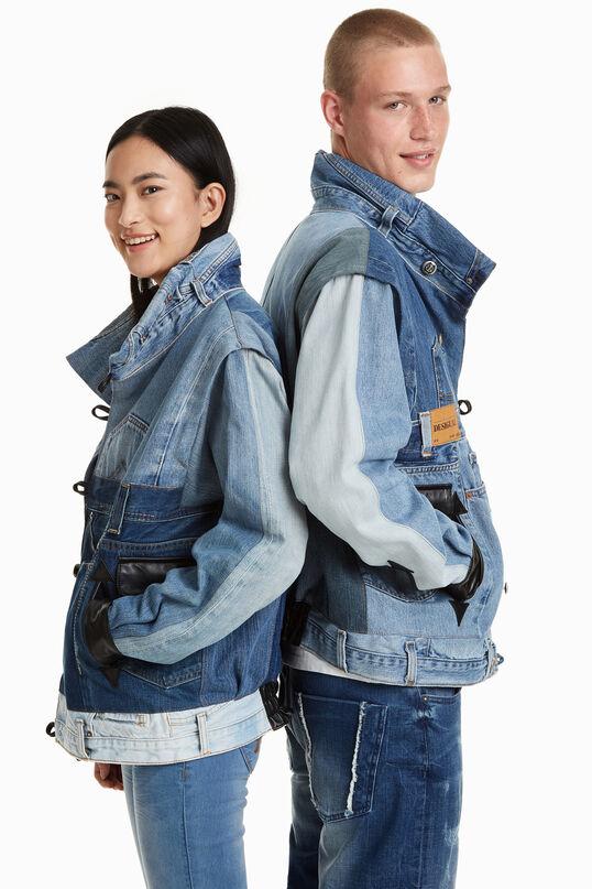 Iconic denim scraps Jacket | Desigual
