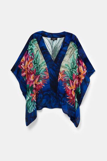 Blouse kimono florale orientale | Desigual