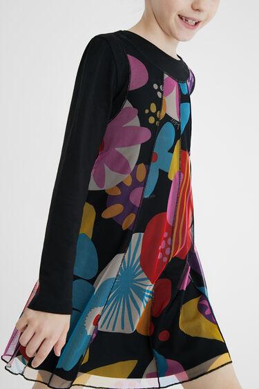 Tulle print dress | Desigual