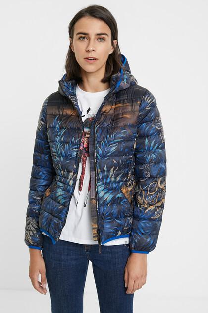 Padded jacket hood