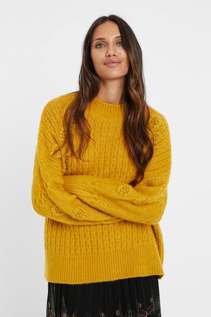 Jersei de tricot trenat