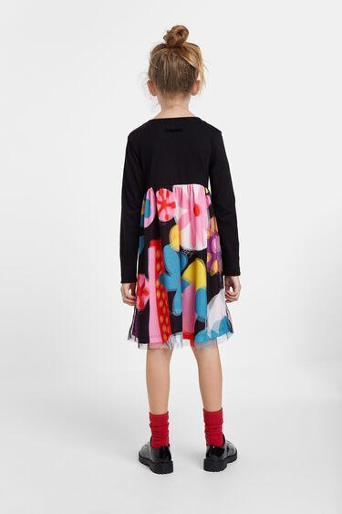 Floral high waist dress | Desigual
