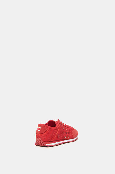Leather sneakers embroidered   Desigual