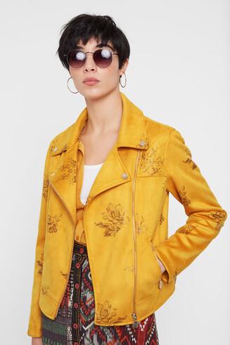 Floral biker jacket