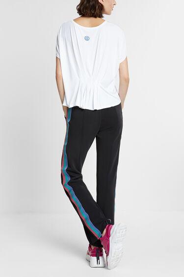 T-shirt rayures lurex horizontales | Desigual