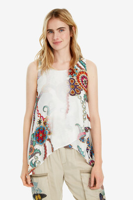 Sleeveless wrap T-shirt Arkansas