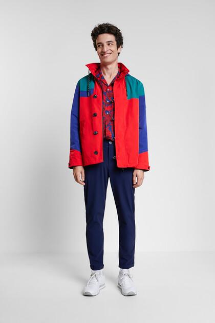 Parka waterproof tricolor hood