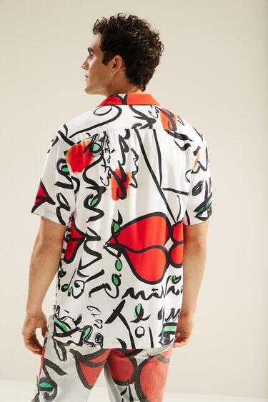 Unisex-Hawaiihemd mit Aufdruck 'El Beso' | Desigual