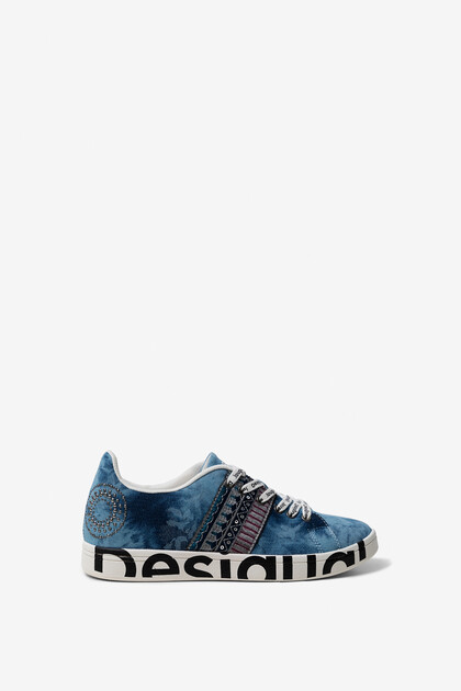 Jacquard denim sneakers