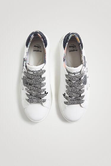 Sneakers Kunstleder Glitzer-Details | Desigual