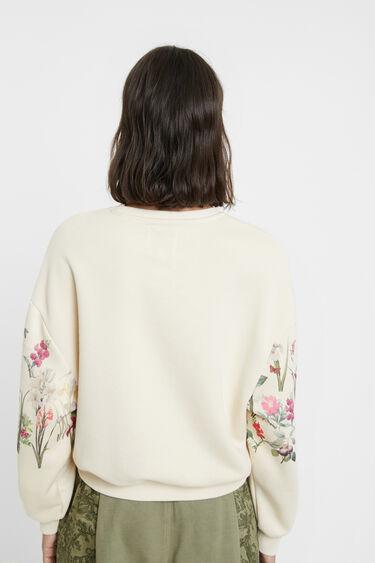 Plush floral sweatshirt | Desigual