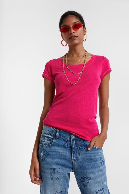 T-shirt coutures arc-en-ciel | Desigual