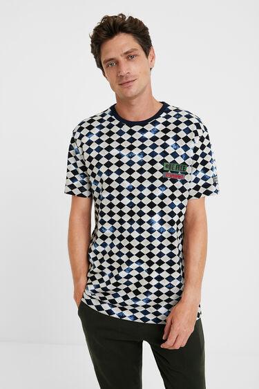 Camiseta rombos 100% algodón | Desigual