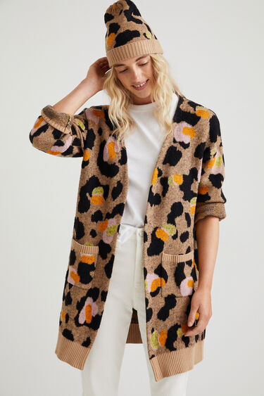 Long jacket animal print | Desigual
