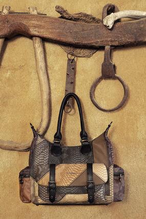 Patchwork briefcase bag
