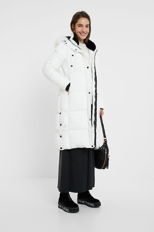 Cappotto lungo imbottito dritto mandala | Desigual