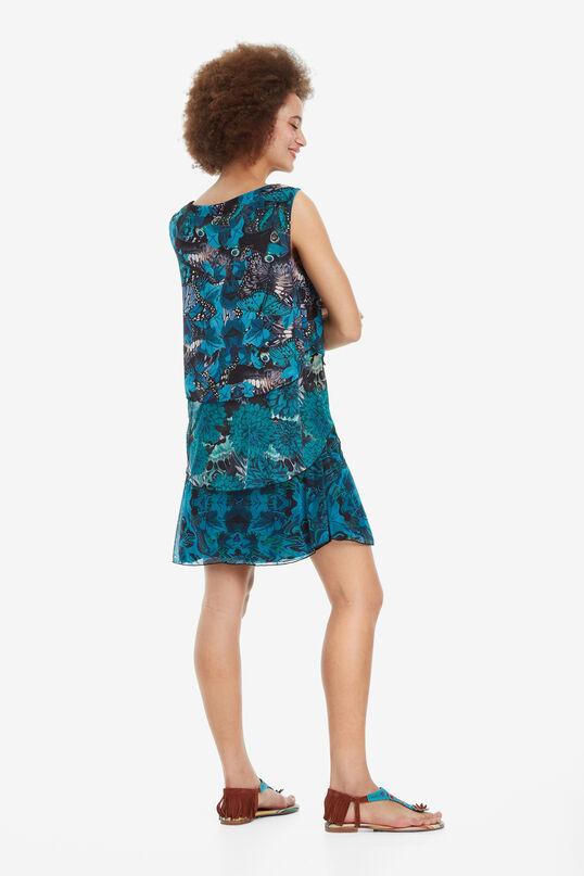 Three-ruffle Dress Underwater | Desigual