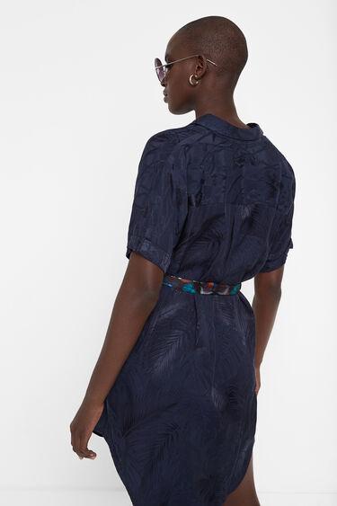 Shirt dress vegetable embossing | Desigual
