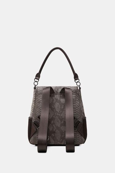 Medium embossed leather effect backpack | Desigual