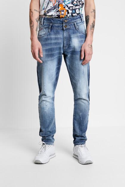 Jeans striscia laterale