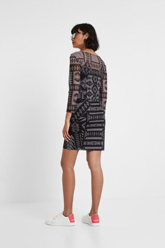 Obcisła sukienka z geometrycznym nadrukiem Designed by M. Christian Lacroix | Desigual