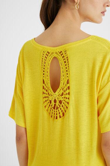 T-shirt crochet paisley | Desigual