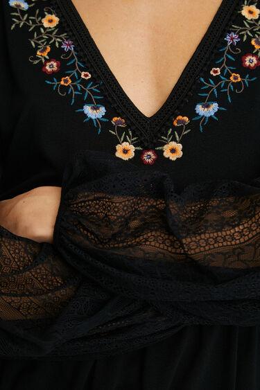 Weit fallendes Shirt mit Blumen | Desigual