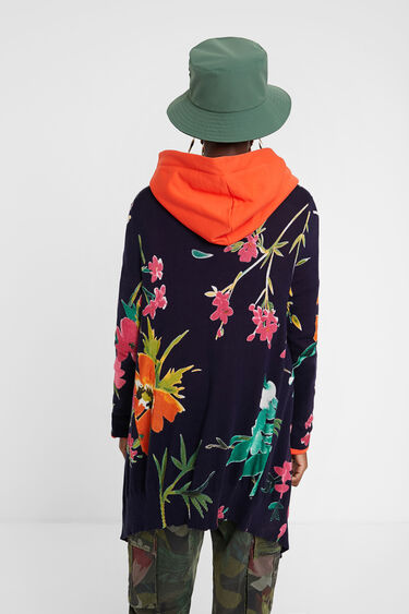 Chaqueta larga floral | Desigual